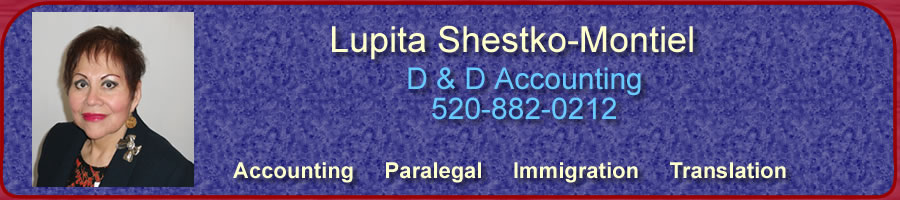 Tucson Accounting Service - Citizenship- Paralegal - Immigration - Translation Service - Divorce - Bankruptcy